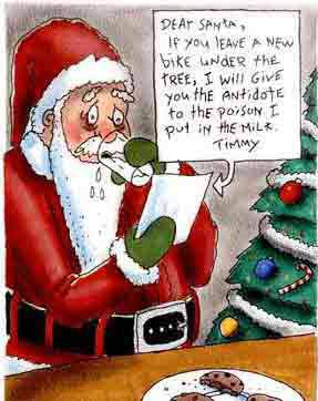 Santa thinks twice