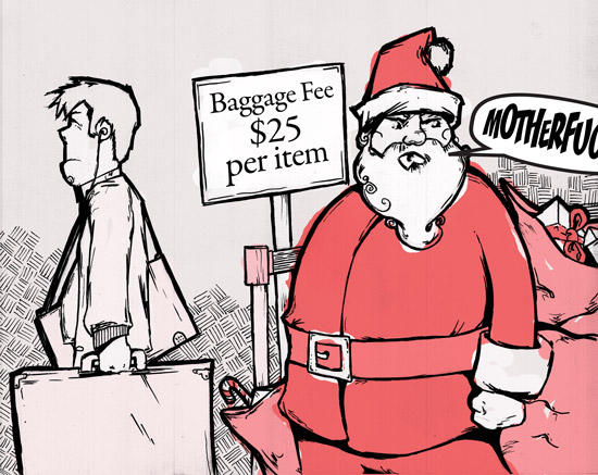Santa curses