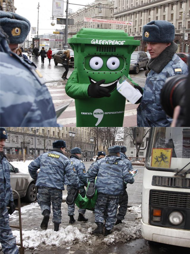 Ve don't do recycle in Moscow!