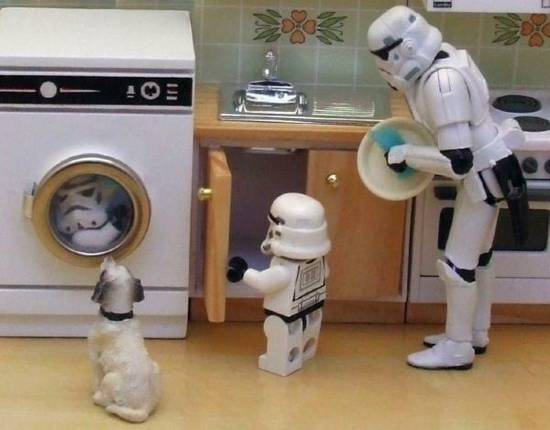 stormtroopers wash up